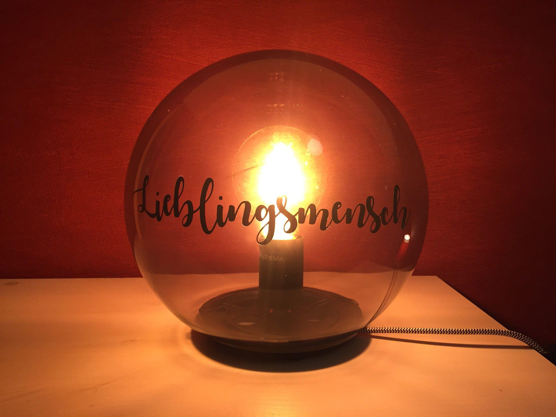 Retro Kugellampe Lieblingsmensch O 25cm Etsy In 2020 Lampe Kugellampe Etsy