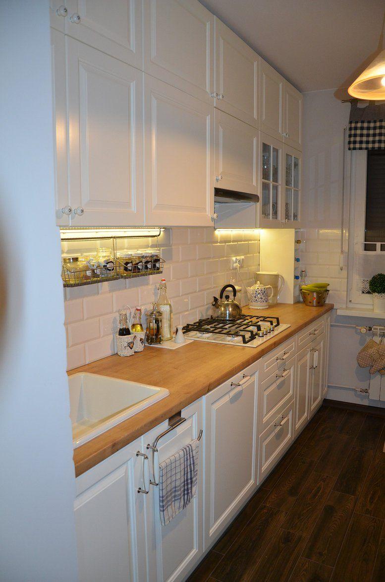Wnetrza Kuchnia W Bloku Kuchnia W Naszym Nowym Mieszkaniu Ktora Jest Efektem Projektu Mojego I Mojego Meza Wsp Kitchen Decor Ikea Kitchen Kitchen Cabinets