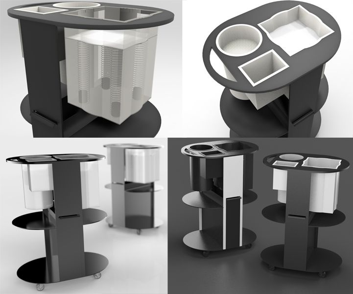 Obloo an innovative trolley with built in compartments for Product innovation agency