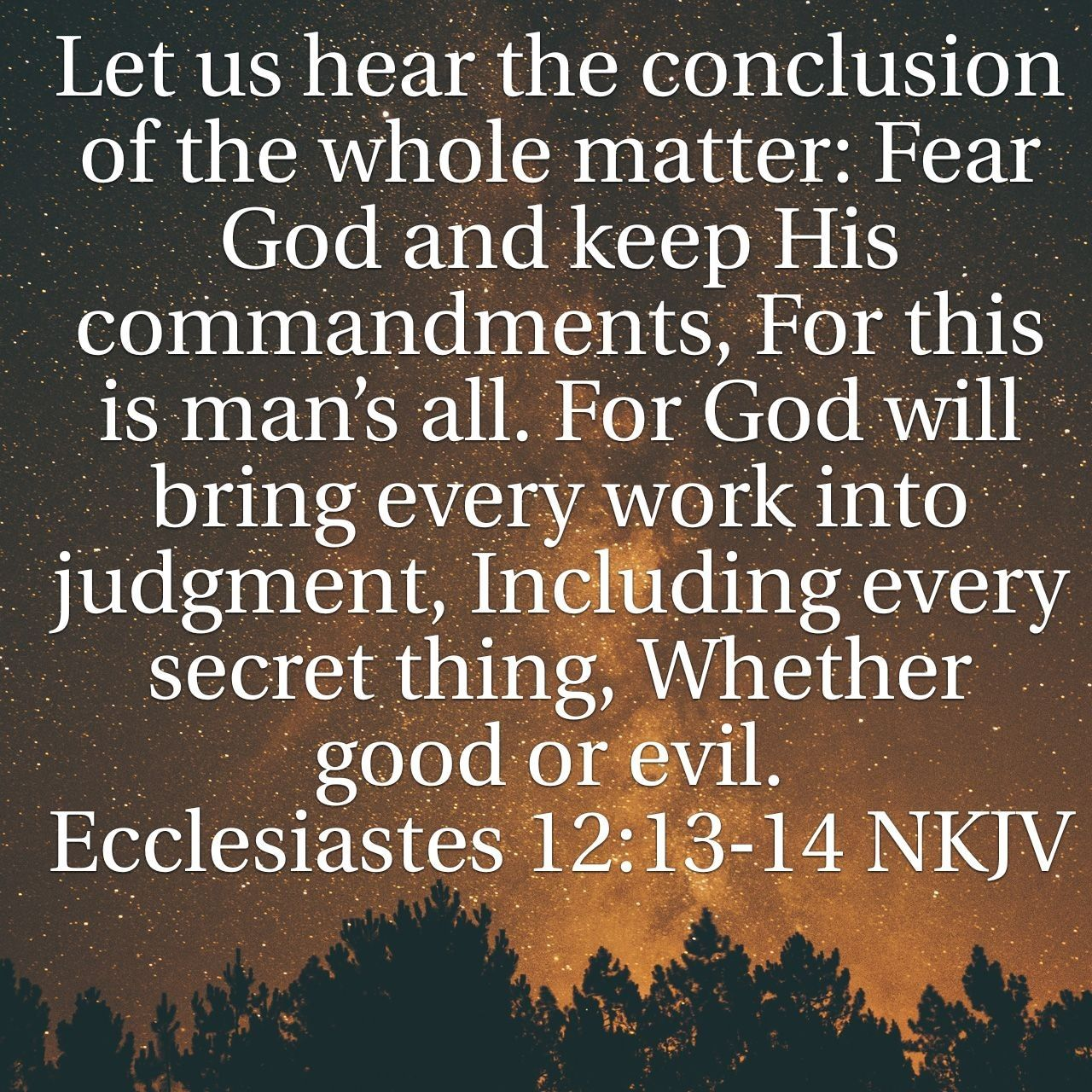 Image result for ecclesiastes 12:13-14