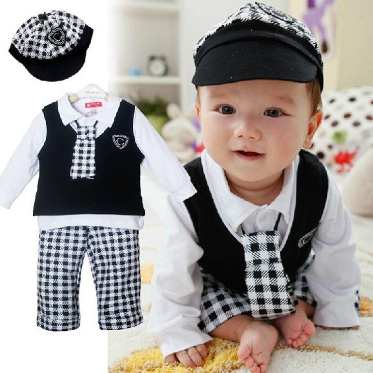 Gentleman Suit Waistcoat White Shirt and Pant with Tie for Toddler Kids Boy Long Sleeve Clothing Set