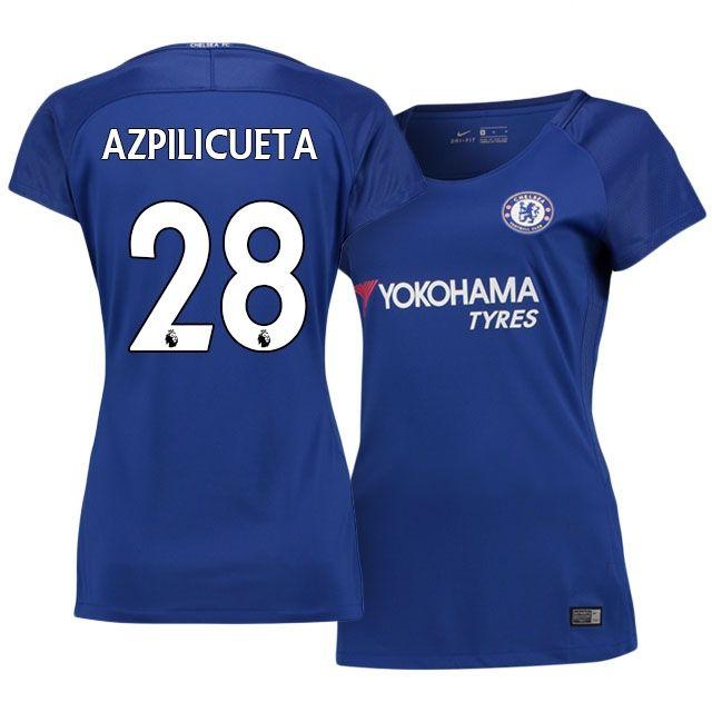 Chelsea 2017 18 Home Kit Women AZPILICUETA  003b9e1e9