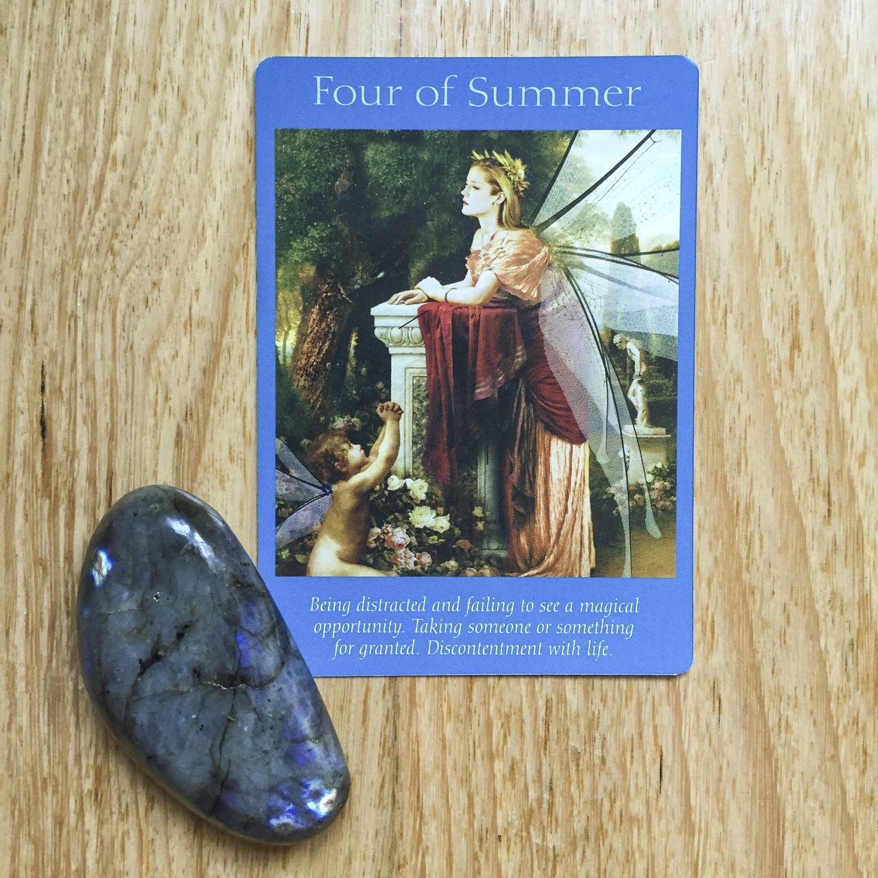 Card of the day 23 august four of summer fairy tarot