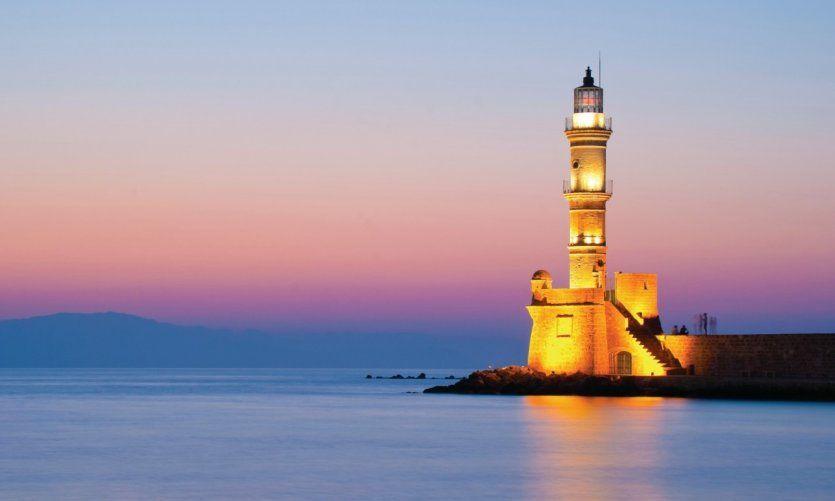 Le phare de la Canée, Hania,  Crète