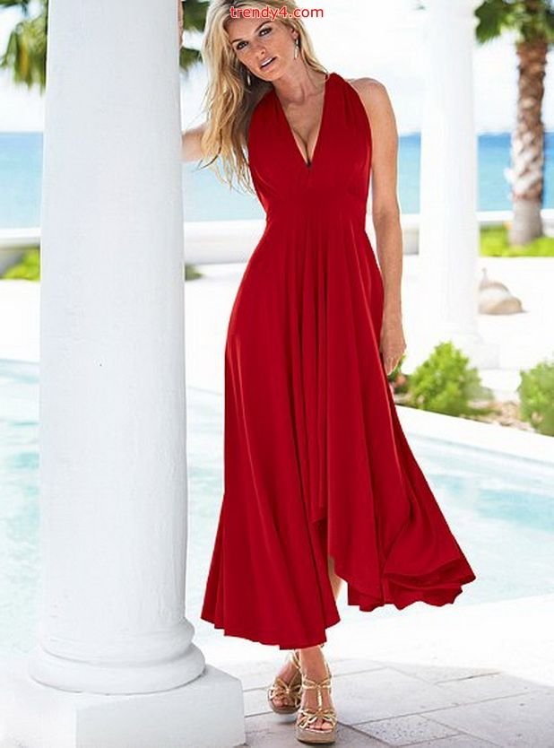 red summer dresses for women | ... Light Summer Sun Dresses : Maxi ...