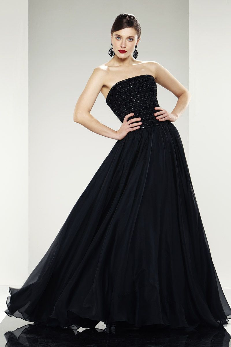 Theia strapless sequinned a line organza dree fashion pinterest