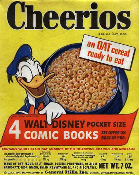 cheerios in the 1960 s my favorite cereal when i was little but i