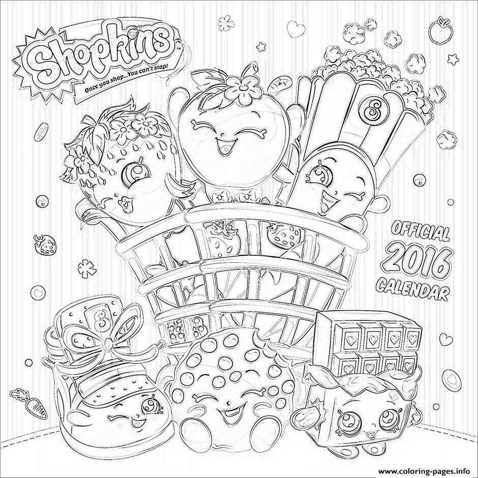 Shopkins coloring pages polly polish - Print Shopkins Official 2016 Coloring Pages