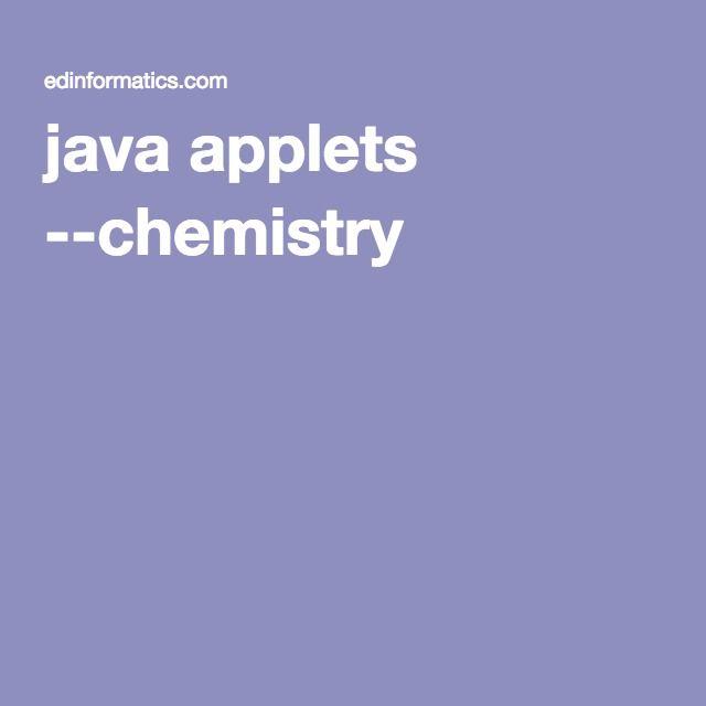 Java applets chemistry chemistry pinterest chemistry java applets chemistry urtaz Gallery