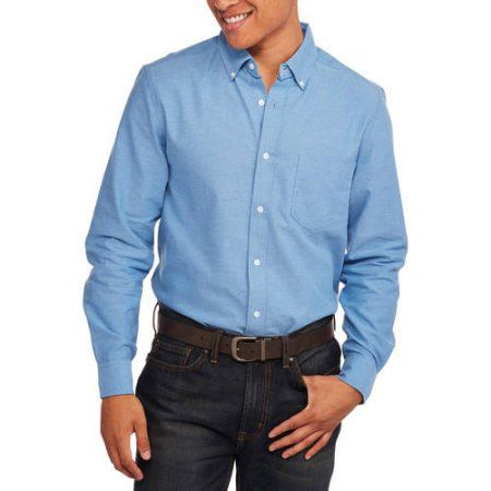 27cfcc3f Men's Long Sleeve Oxford Shirt | Products | Shirts, Mens tops e Big men