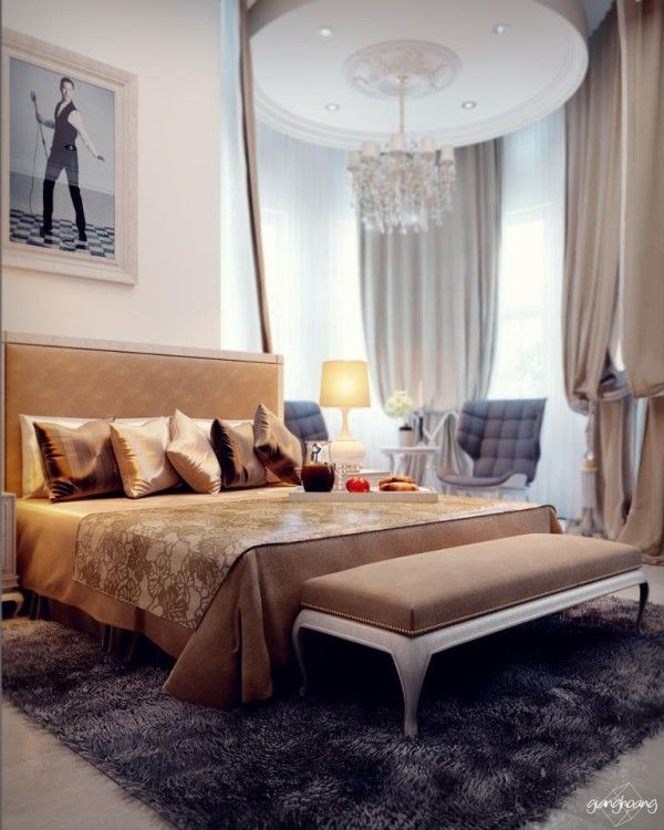 5 Classic Bedroom by gianghoang 600x750 Classic Bedroom Design by Giang Hoang