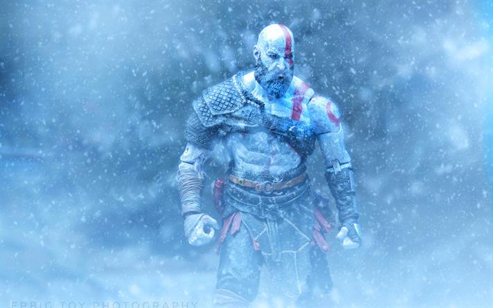 Download Wallpapers Kratos 4k Hack And Slash 2018 Games