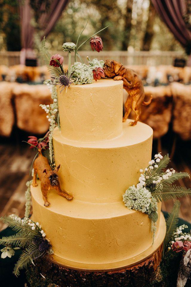 Dramatic Oregon Forest Wedding Themed wedding cakes