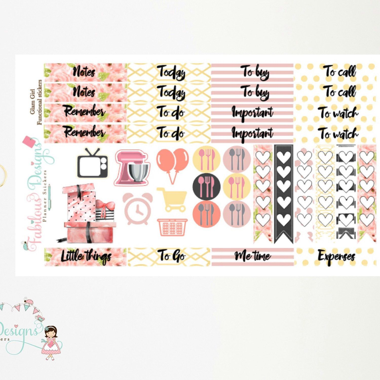 New Release - Glam Girl functional stickers ✨