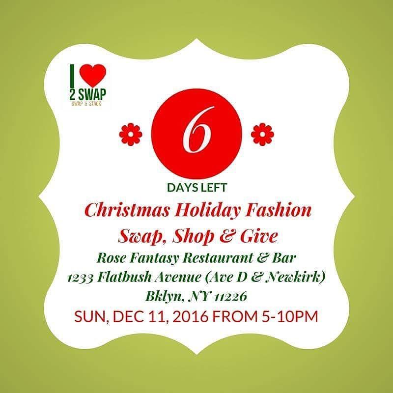 Christmas Holiday Fashion Swap Shop & Give is going down! We are pumped. Register in advance for free. Click link in bio to sign up in advance & attend for FREE or pay at the door