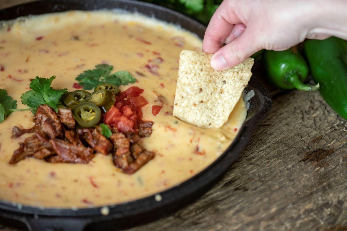 Bbq brisket queso recipe in 2020 appetizer ingredients