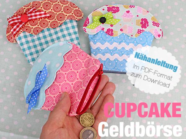 Nähanleitung Cupcake Geldbeutel nähen | Nähen | Pinterest | Cupcake ...