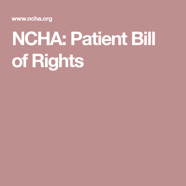 Ncha Patient Bill Of Rights  PatientS R I G H T
