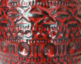 Große Bodo Mans Vintage Keramik Vase Bodenvase rot 608 45 Bay Germany 1960er Jahre Mid Century -    Artikel bearbeiten  - Etsy