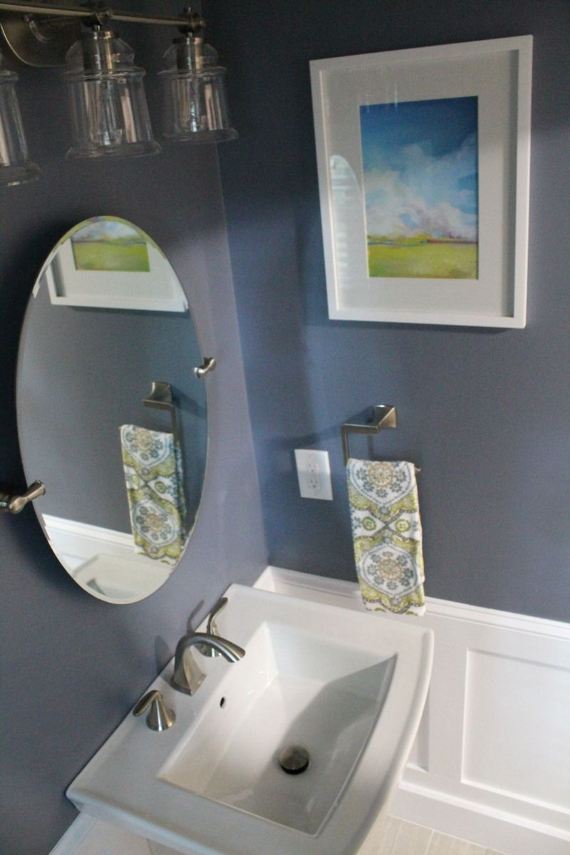 half bathoom paint benjamin moore black pepper kohler. Black Bedroom Furniture Sets. Home Design Ideas