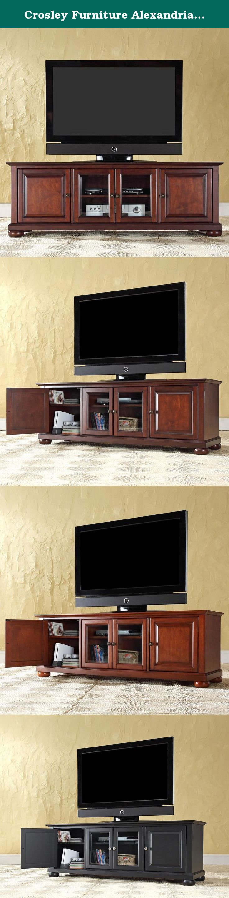 Crosley Furniture Alexandria 60 Inch Low Profile TV Stand Vintage Mahogany Enhance your