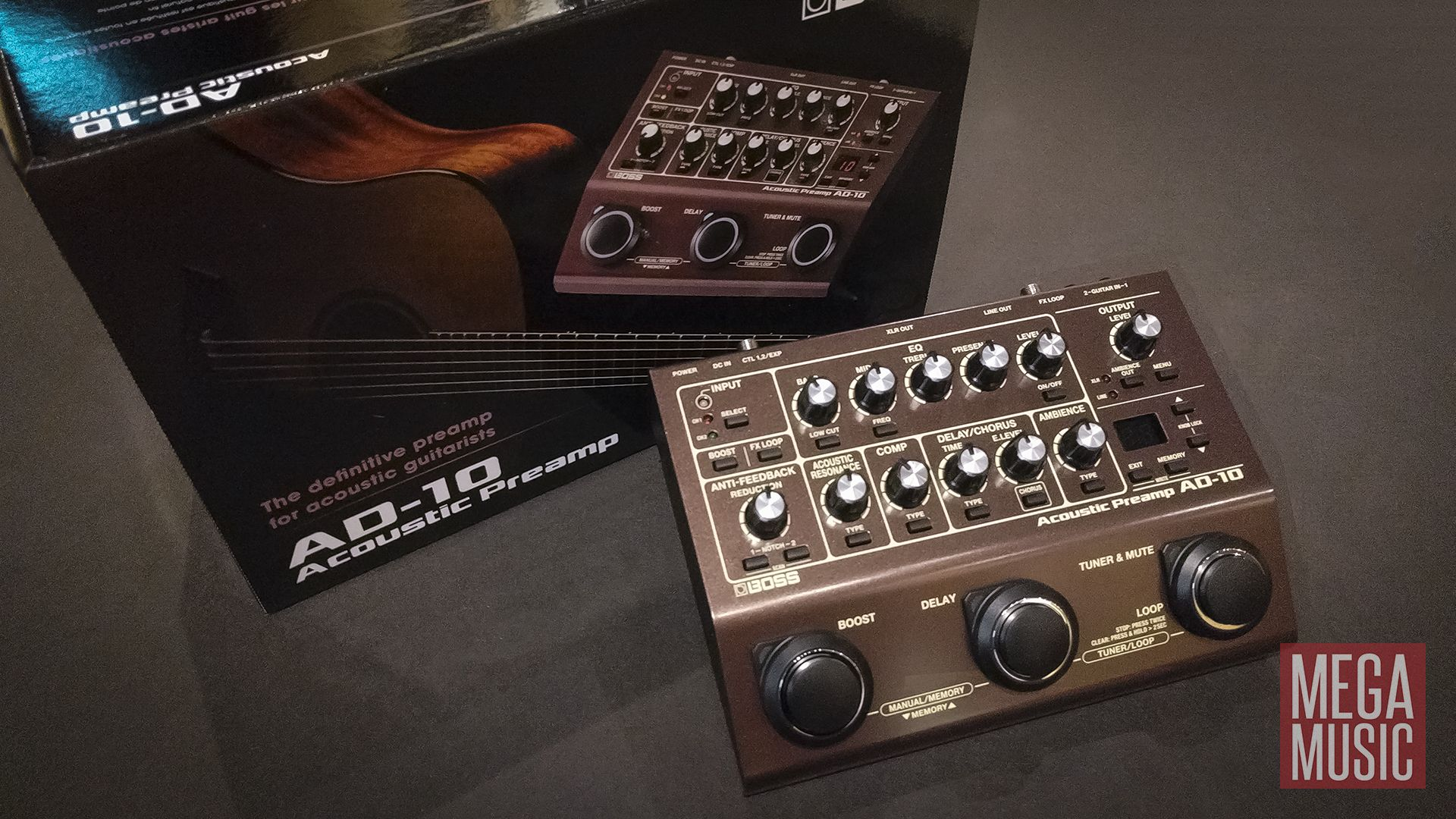 Boss Ad 10 Acoustic Preamp Ad10 Boss Effects Acoustic Guitar Effects
