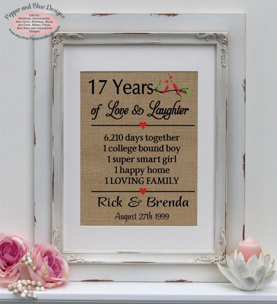 17th wedding anniversary gifts