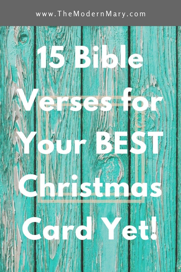 15 Verses For Your Best Christmas Card Yet Catholic Pinterest