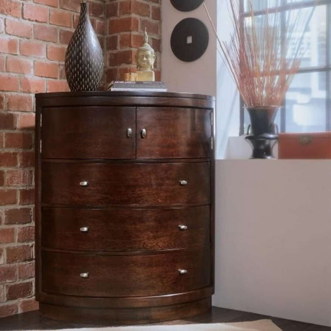 American Drew Camden Corner 5 Drawer Chest Corner Dresser Small
