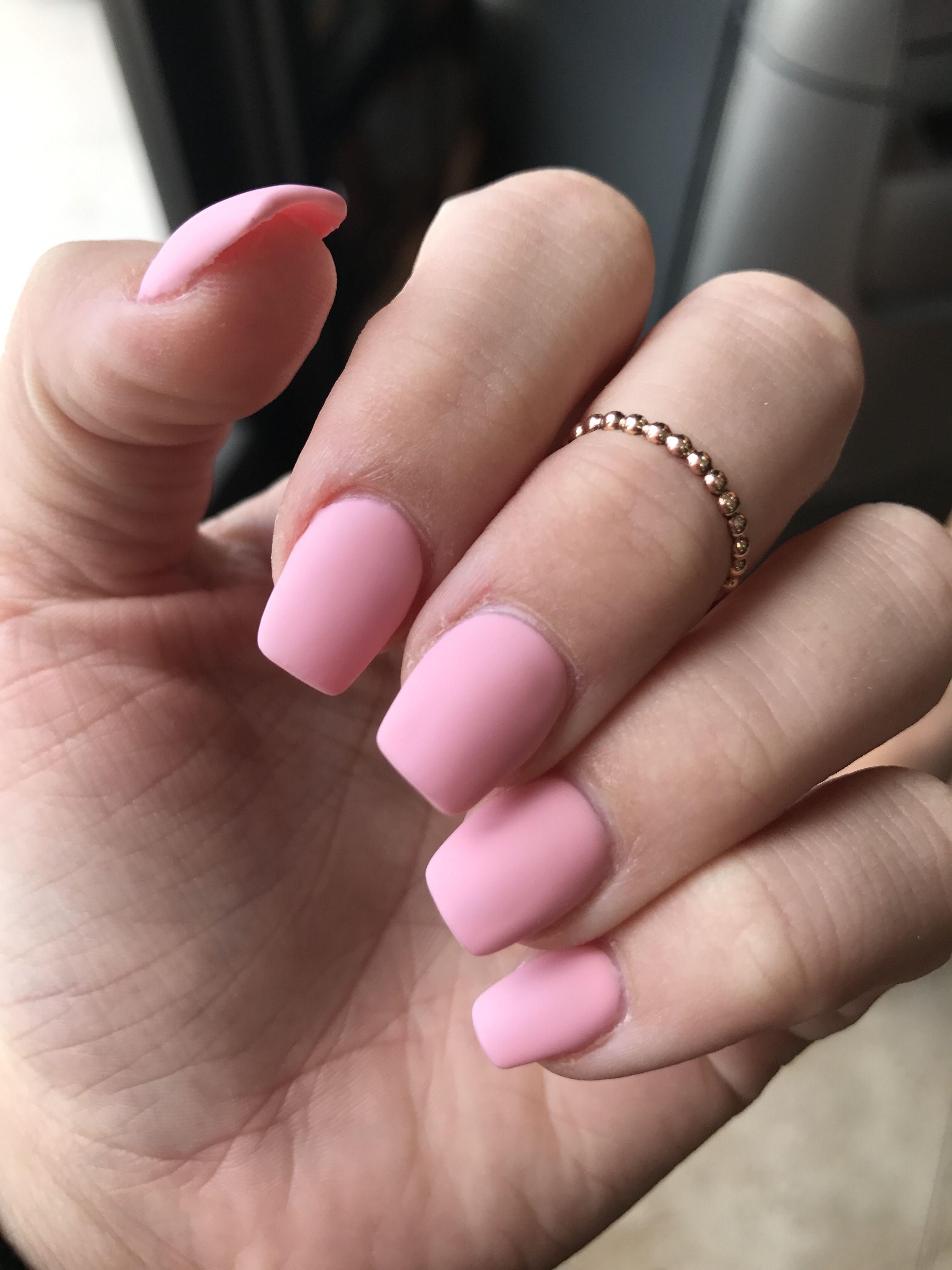 Love my nails! Short coffin, peach pink! $40 #vougenails | Hair ...