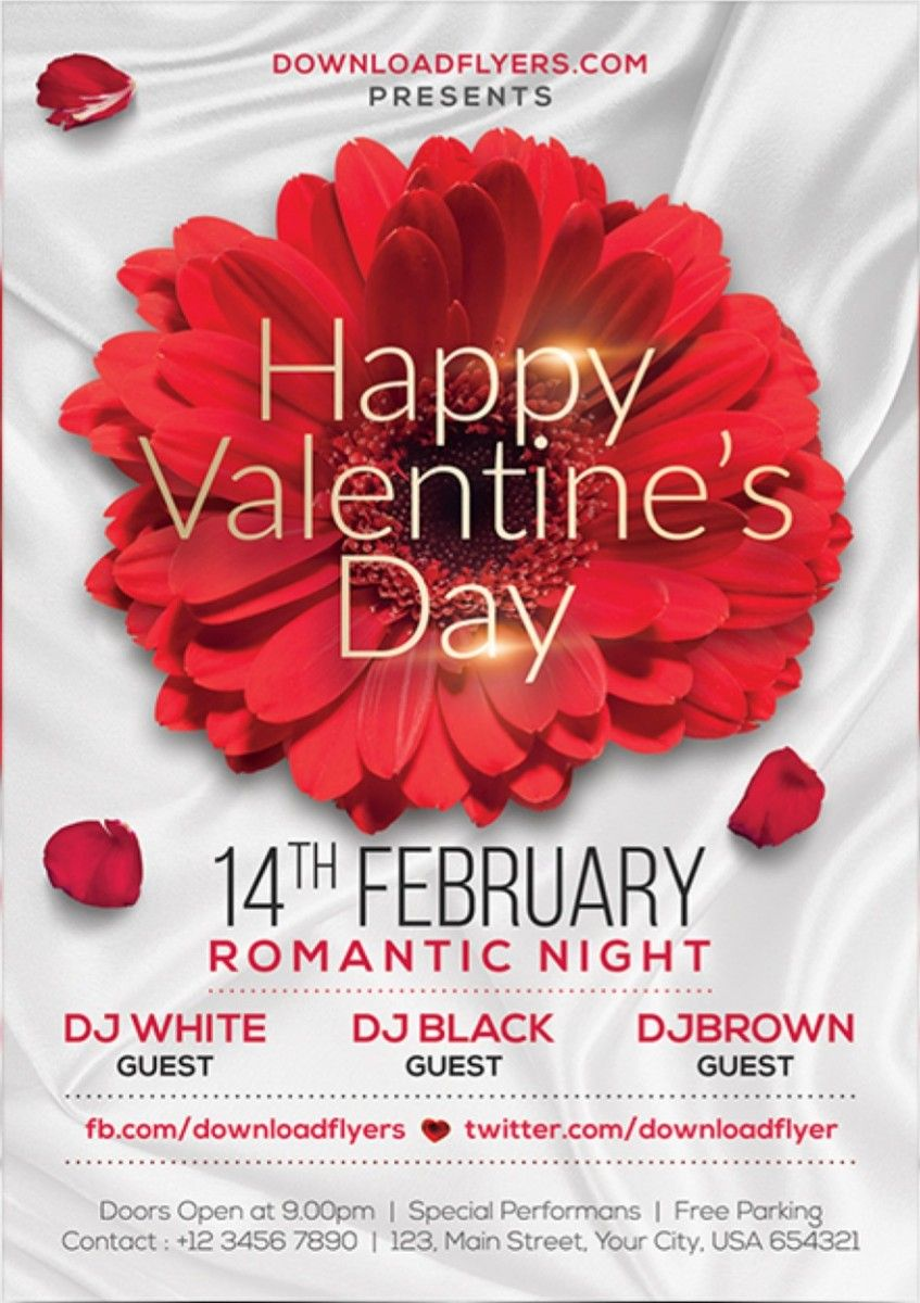 Valentines Day Flyer Template Free Psd Free Flyer Template