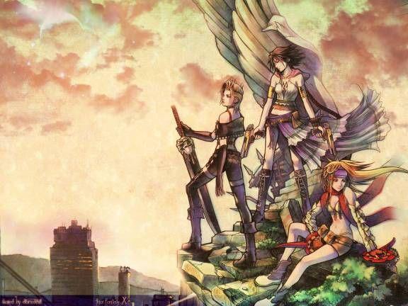 Final Fantasy X 2 Yuna Rikku Paine