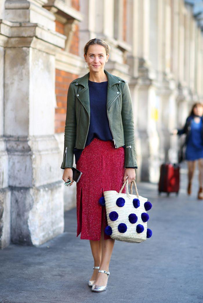Mandatory Credit: Photo by Silvia Olsen/REX/Shutterstock (5114714df) Street Style Street Style, Spring Summer 2016, London Fashion Week, Britain - 19 Sep 2015