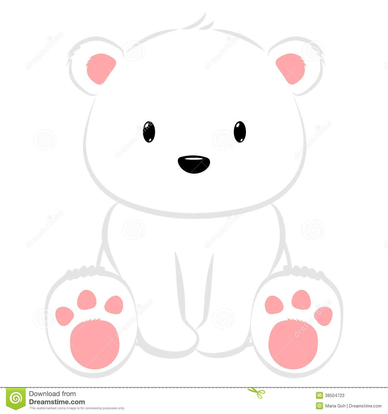 Wall Stickers Frames Polar Bear Cute Cartoon Baby Seated 38504723 Jpg 1300