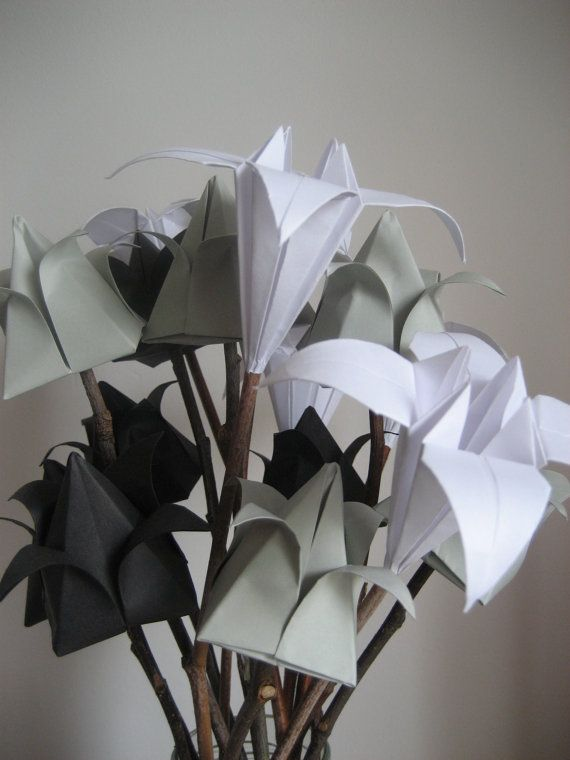 I Love you everlast Origami flowers bouquet by Meiorigami on Etsy ...
