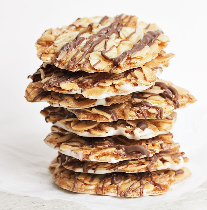 Double Chocolate Almond Florentines Seasons And Suppers Recipe Vegan Cookies Recipes Easy Christmas Cookie Recipes Florentines Recipe