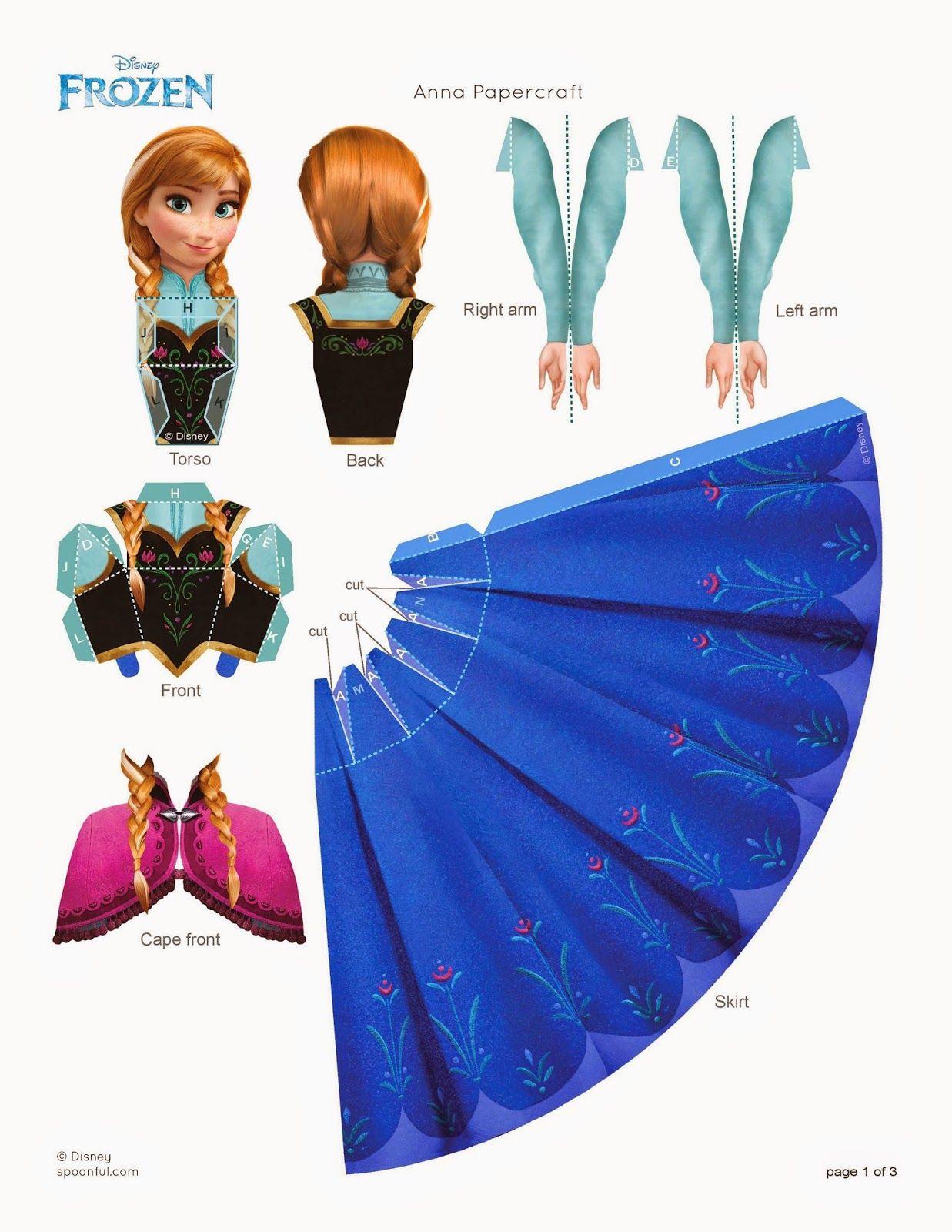 Canguro sofá intervalo  Juegos para vestir juguetes: febrero 2015 | Manualidades disney,  Imprimibles de frozen, Manualidades