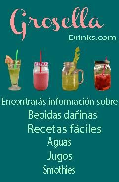 Para fáciles recetas visítanos en : http://vivianaibarra.wix.com/groselladrinks
