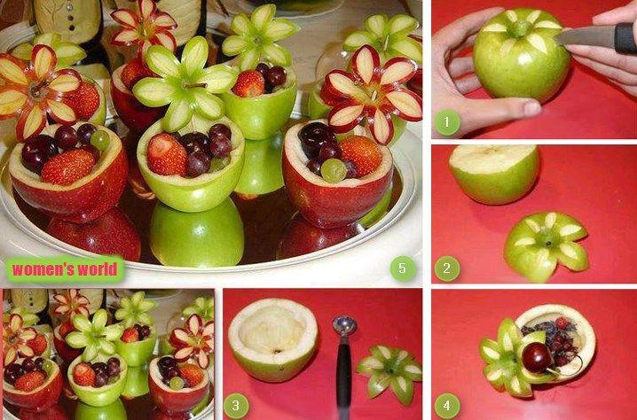 kreative Idee für Obst Nachtisch