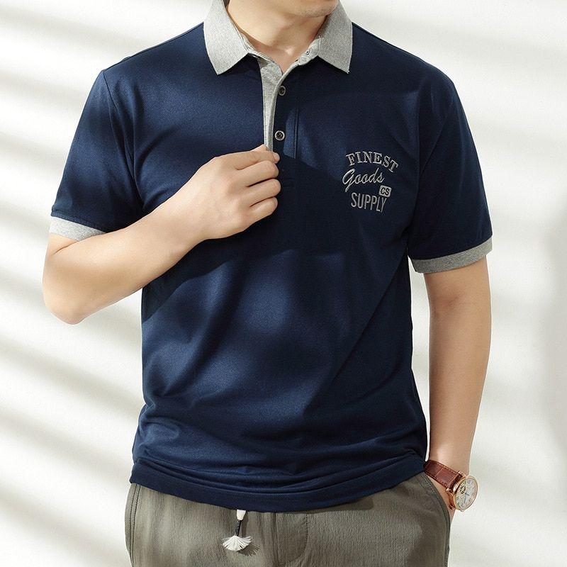 Men Polo Shirt Mens Clothing Plus Size New Fashion Polo Men Tops ...