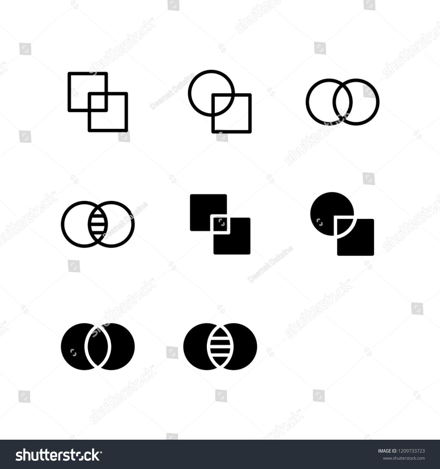 Overlap icon design overlap copy paste merge duplicate