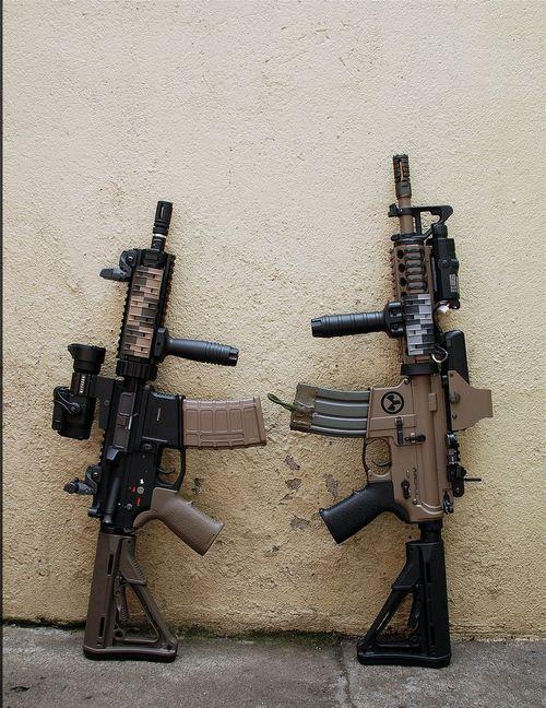 thearmednovelist:  MK.18 MOD.1 (left)  MK.18 MOD.0 (right)