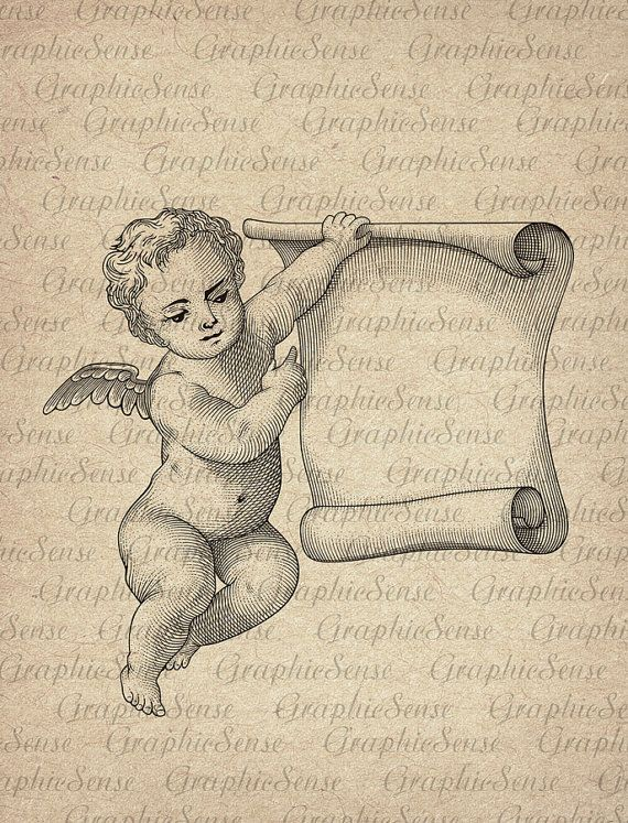 Image result for cherub with parchment