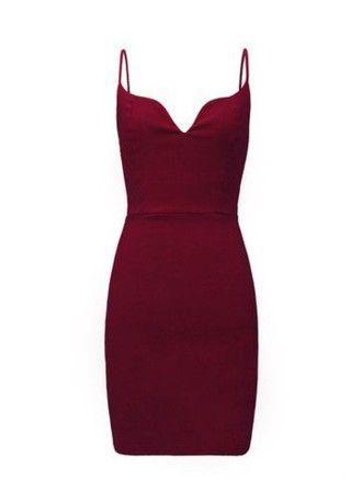 dress tight bodycon short red wine red dress deep red spaghetti strap c4f2787efdfa