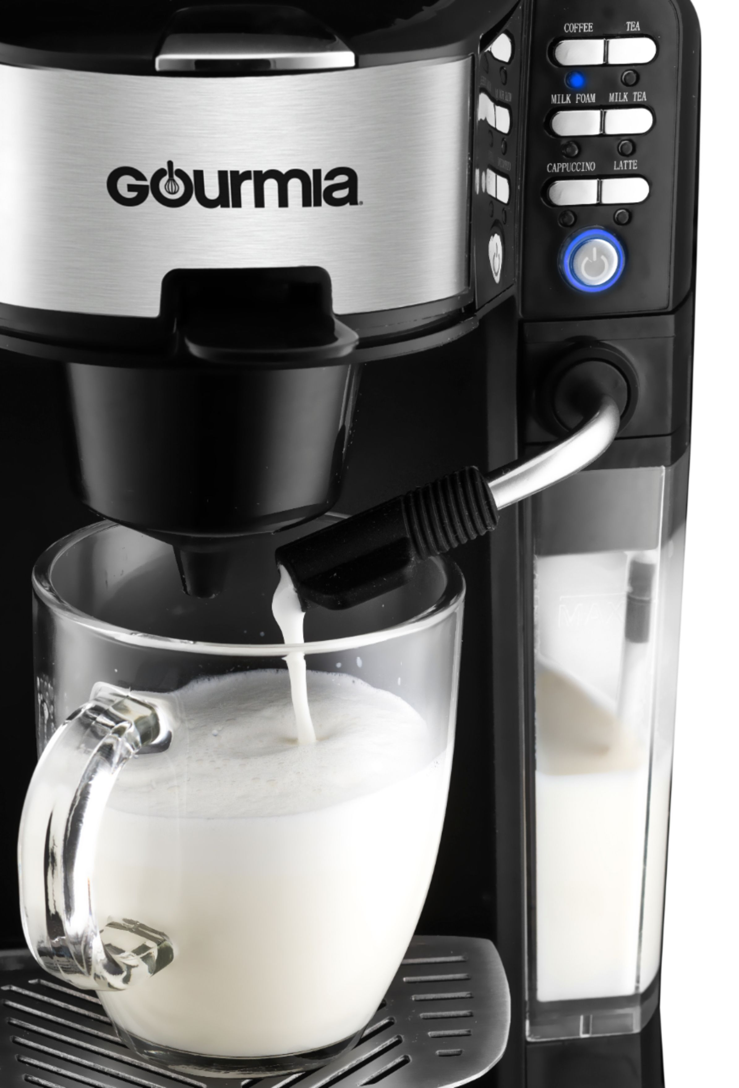 Gourmia Single Serve K Cup Pod Coffee Maker With Built In Frother Di 2020
