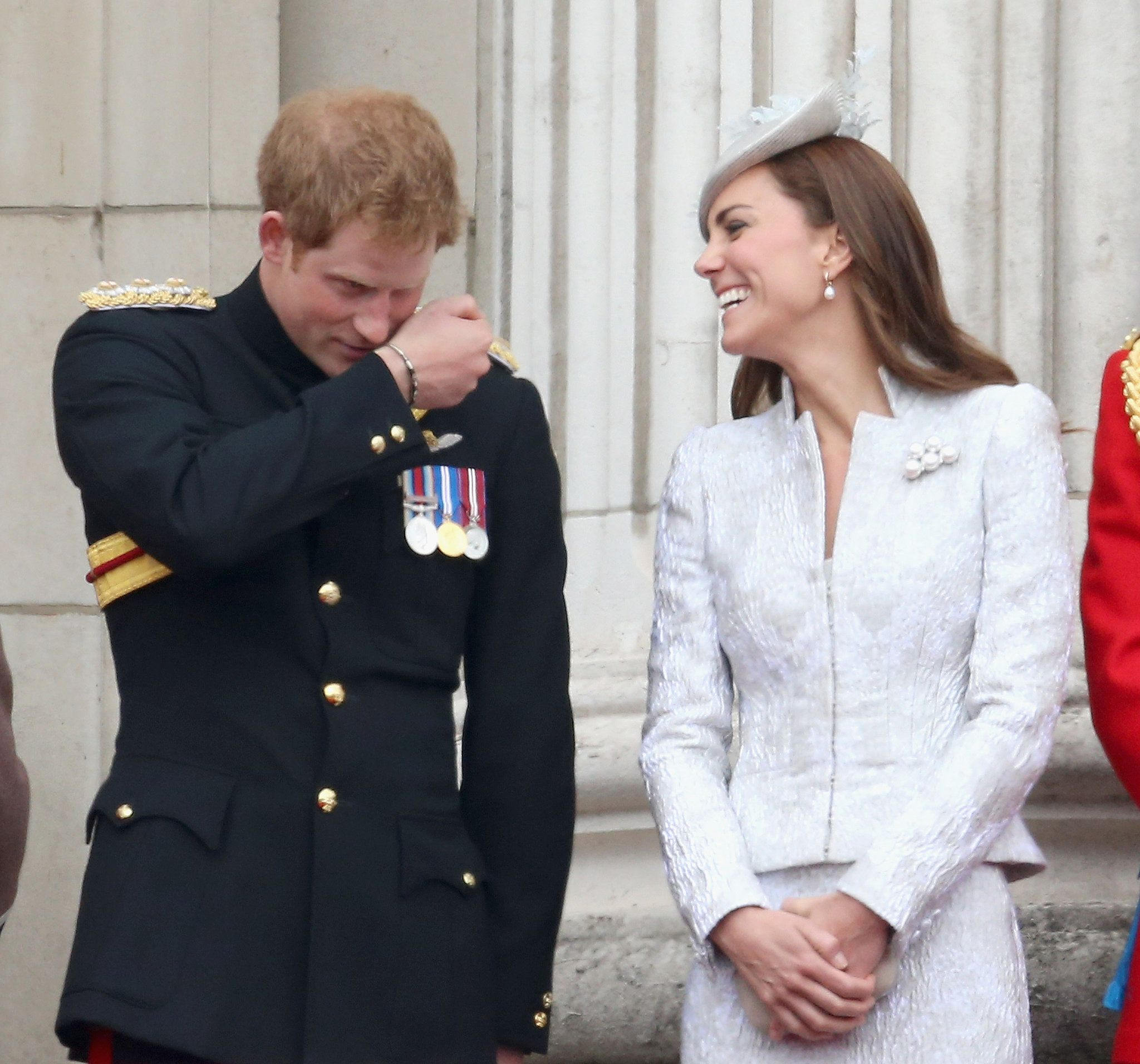 He had his sister-in-law grinning ear-to-ear when he joked around during the 2014 Trooping the Colour festivities.