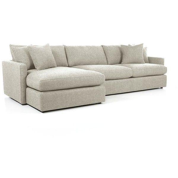 Beau Crate U0026 Barrel Lounge II Petite 2 Piece Sectional Sofa   Cement ($2,598)