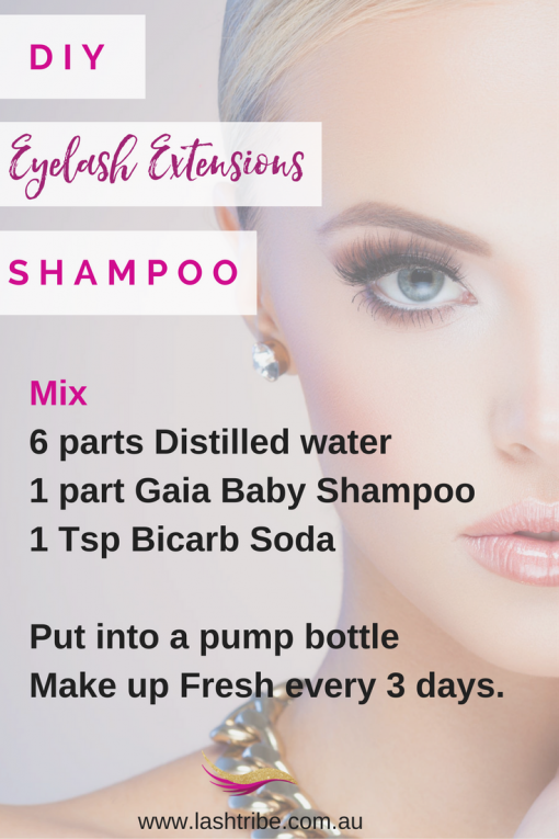 How To Clean Your Eyelash Extensions Lashes Pinterest