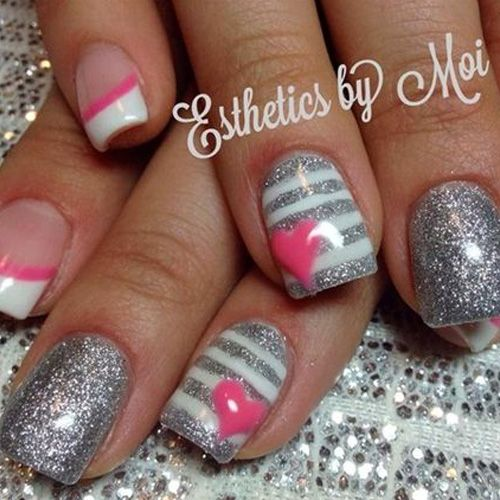 Valentines Day Nails! 114 of the BEST VALENTINE'S DAY NAILS! Check them all  our - Valentine's Day Nails - 114 Best Valentines Day Nails! NAILS