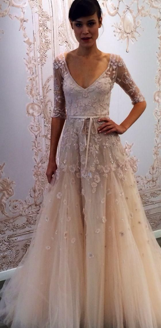 cheap 2015 new arrivals champagne wedding dress long